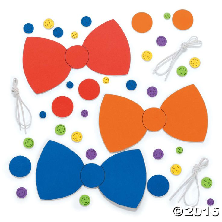 Button Bow Tie Craft Kit - Oriental Trading - Discontinued