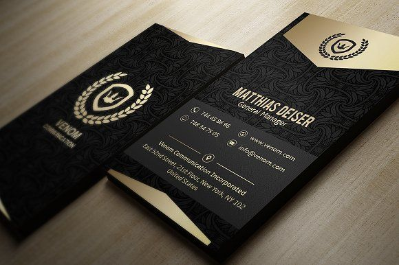 Gold And Black Business Card by Marvel on @creativemarket