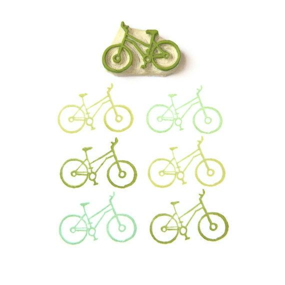 Cyclist's Bicycle Stamp - Rubber Stamp - Cling Rubber Stamp