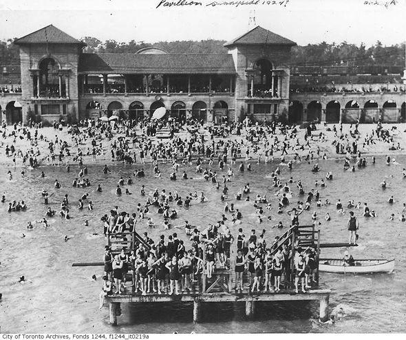What Sunnyside looked like before the Gardiner arrived Bathing station, 1924
