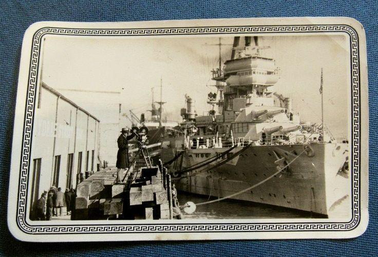 1929 Glossy Photograph U.S. Battleship, Fox Company, San Antonio, Texas