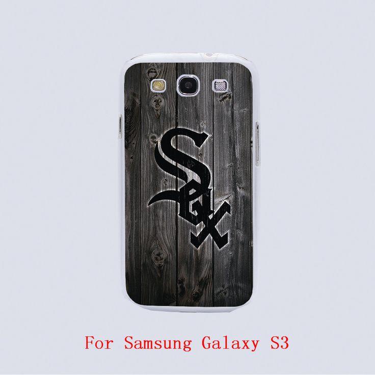 Чикаго уайт сокс дизайн черный кожа телефон крышка чехол для Samsung Galaxy S3 9300 / S4 / S5 / S6 / S6 край