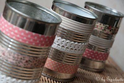 boites de conserve DIY et masking tape