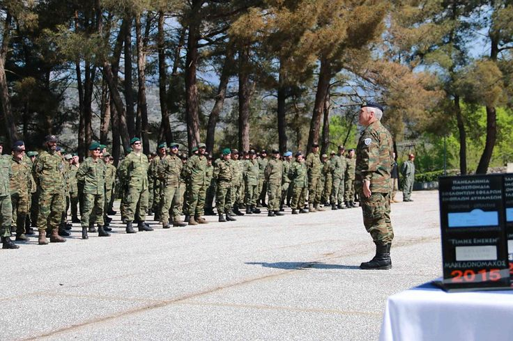 Ex chief of Greek armed forces HQ during visit at <<MACEDONIANFIGTHER 2015>>exercise.