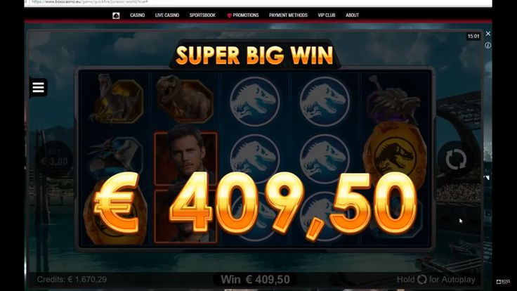 Jurassic World online slot by Microgaming. Big win. casino big win. online casino. microgaming big win. big win slot. bosscasino. Boss casino. casino slot