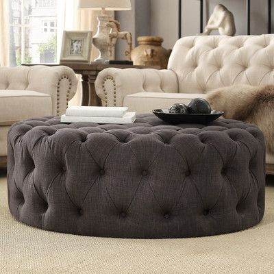found it at wayfair bourges round tufted cocktail ottoman - Tufted Ottoman Coffee Table