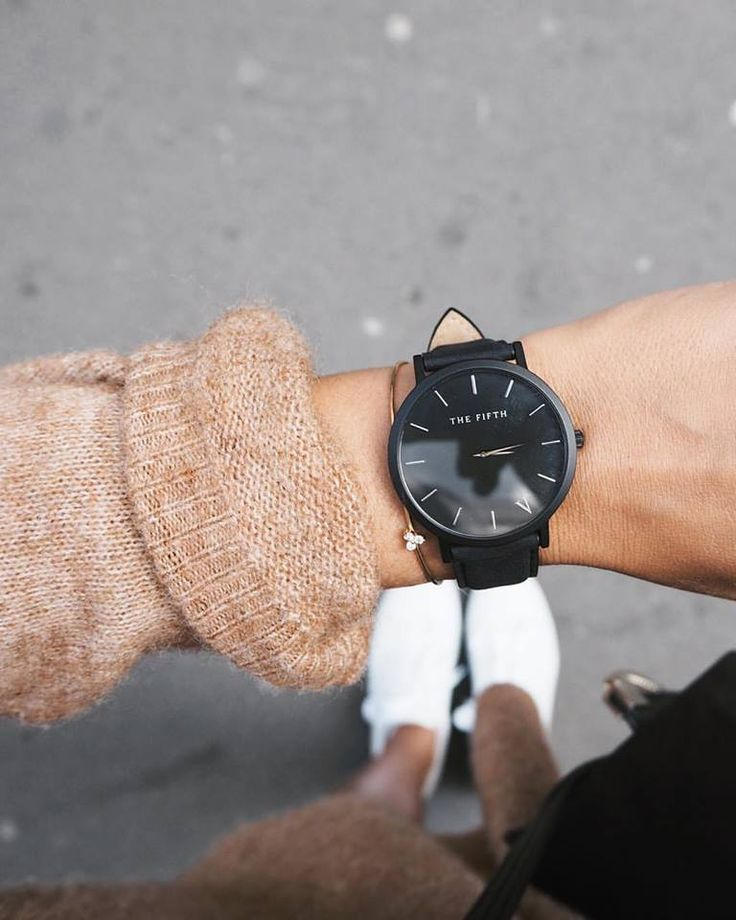 want // watch, sweater, sneakers