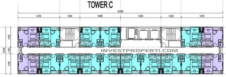 Floor Plan Tower C Apartemen B Residence