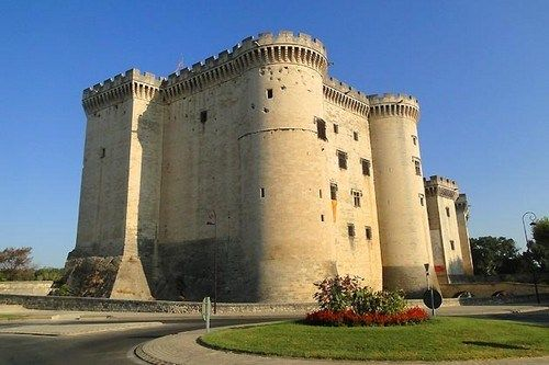 Chateau de Tarascon..Situated on the banks of the Rhone River, The Castle of Tarascon, by its remarkable state of preservation, the monument is one of the finest medieval castles in France and Europe built in the 15 th century by the Dukes of Anjou.