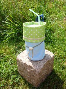 Becher- od. Flaschen-Halter genäht  abwaschbar und zum befestigen (6)