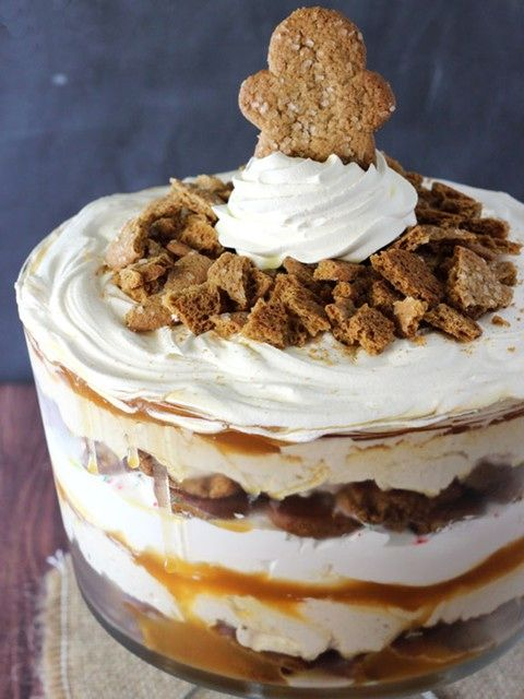 A surprisingly simple dessert! Layers of cream cheese and cool whip do all the hard work in this gingerbread trifle.