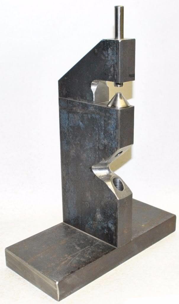 Rivet Setter by jhe 1973 -- Homemade rivet setter fabricated from steel plate. http://www.homemadetools.net/homemade-rivet-setter