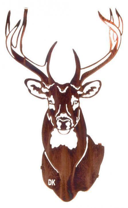 Metal Wall Art | Rustic Metallic 3D Buck Decor