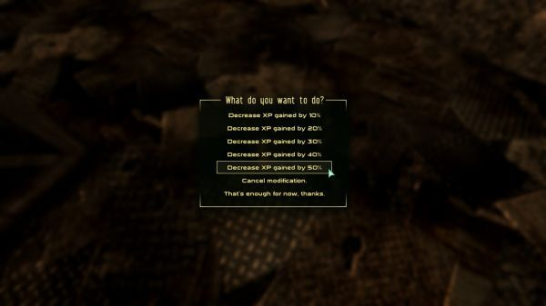 Experience Points Reduced 10 20 30 40 50 Percent at Fallout3