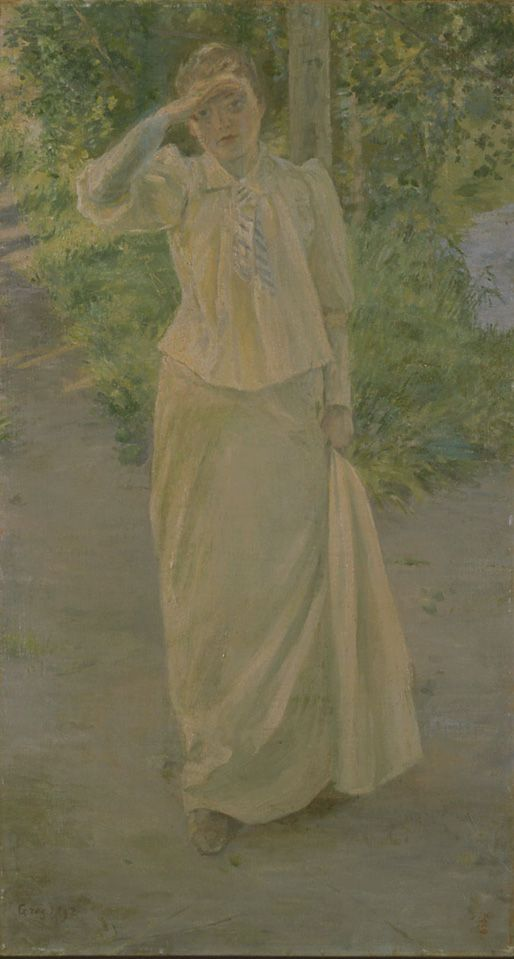 Kuroda Seiki, European Woman in White Dress, 1892