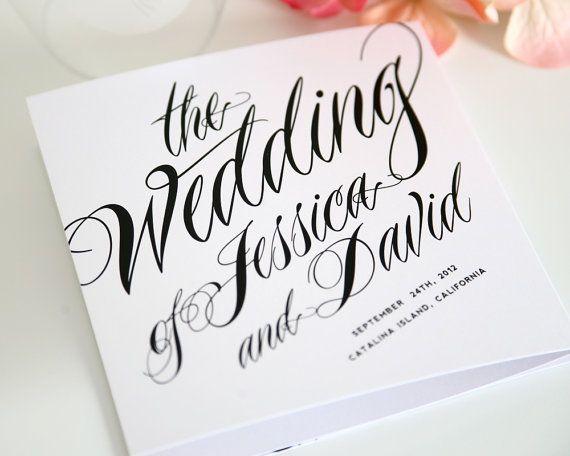 42 best tri fold wedding programs images on pinterest tri fold