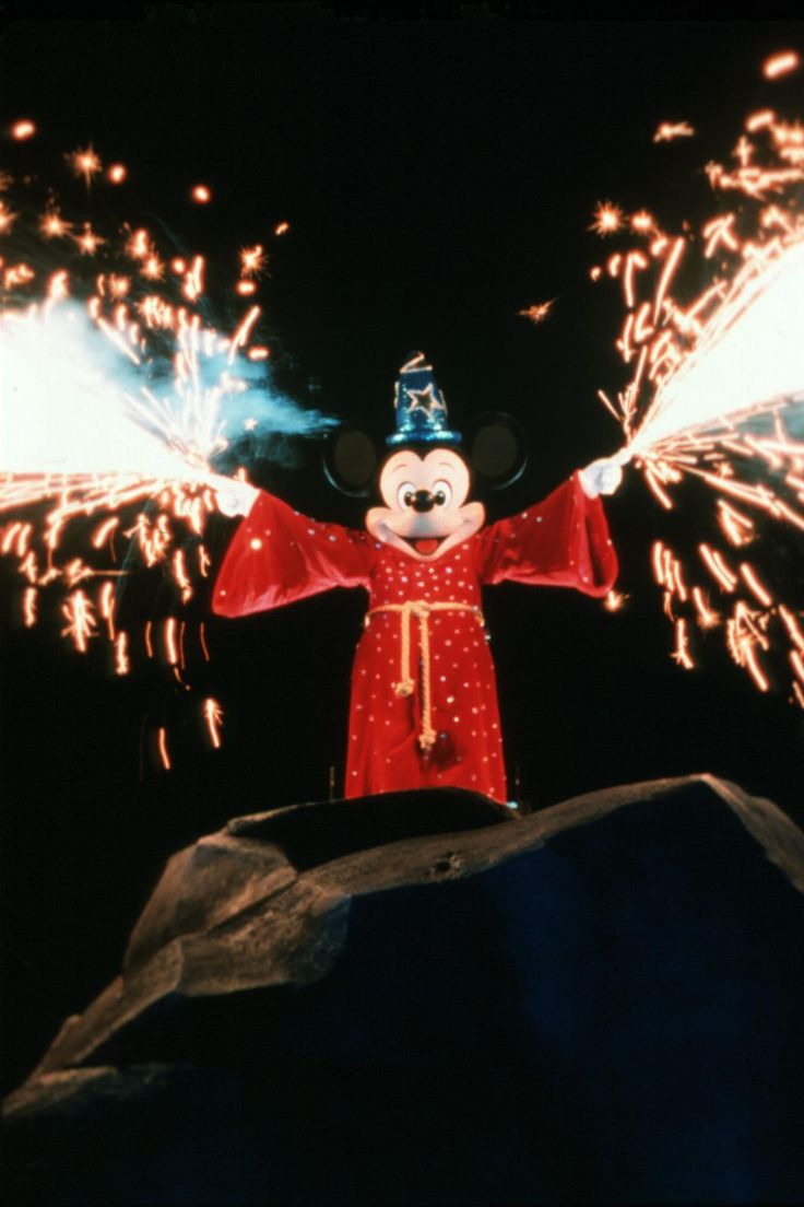 Fantasmic! is a breathtaking 25-minute fireworks and water show at Disney's Hollywood Studios theme park