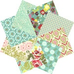Moda's Hello Luscious Cool Fat Quarter Pack #fabric