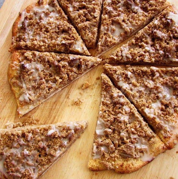 Коричная десертная пицца