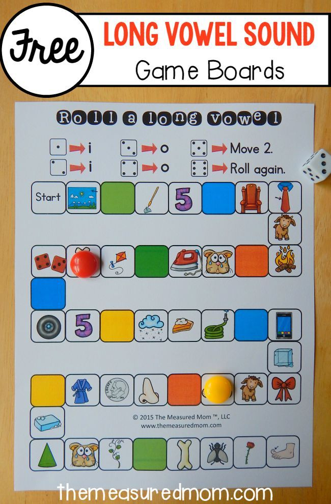 Teach long vowel sounds with this set of 26 free games!  Such a great addition to your other long vowel activities.