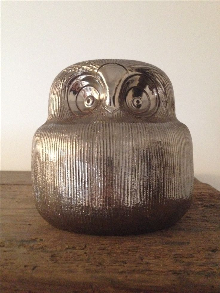 Silver Owl - Made by Aldo Londi for Bitossi in the 1960s.