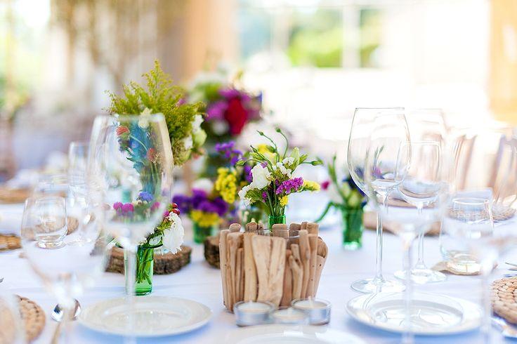 Centerpieces   #weddingtables #weddinginspiration #weddingideas #decoration #whiteandgreen #pink