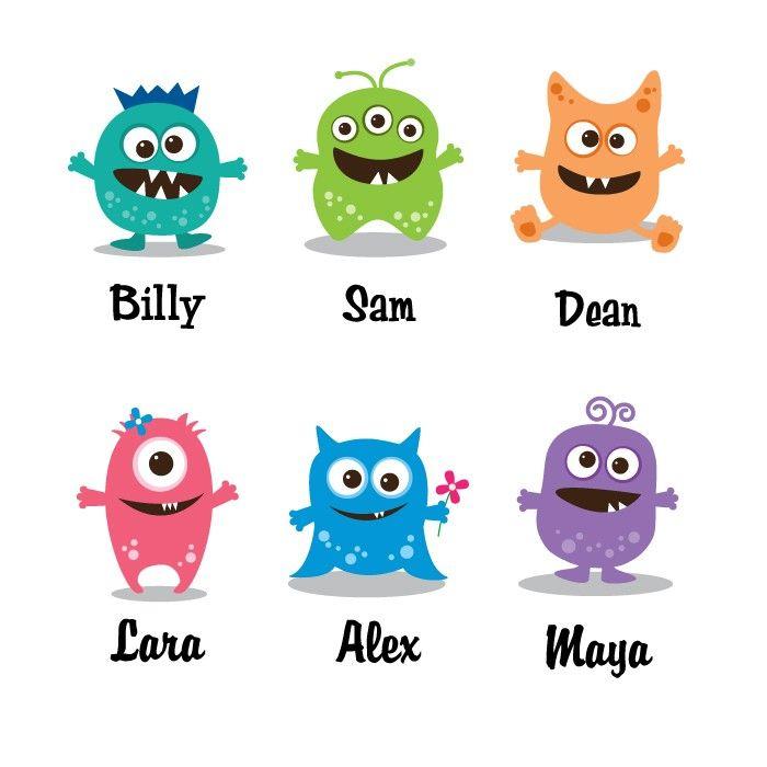 Decoración personalizada Monster poco por HopSkipJumpPaper en Etsy