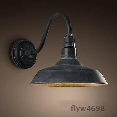Retro Industrial Gooseneck Barn Wall Sconce Lamp Fixture Vintage Wall Light