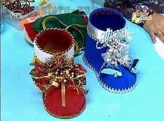 Clase magistral en la costura del fieltro: bota de Navidad