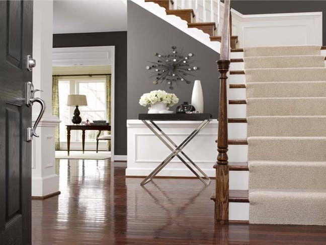 Where Form Meets Function 6 Tray Tables To Love Stair RunnersTray TablesWhite TrimGray WallsBlack