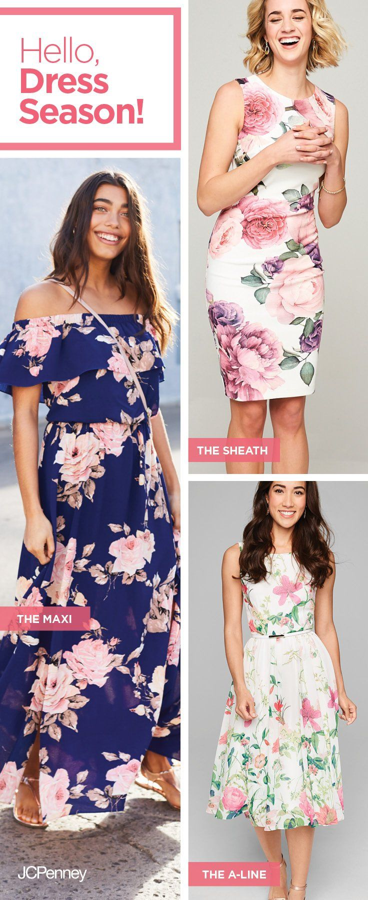 Spring dress season has arrived! And that means it's time to swap out your cold-weather wardrobe with fresh styles like these flirty spring dresses. Floral details, feminine prints and flattering fits are what every girl needs in her springtime closet. Whether you're going for a sweet and girly look to wear to brunch with the besties or something more casual and flowy to wear on-the-go—the perfect spring dress you'll want to wear all season can be found here.