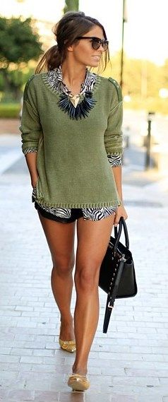 I like this top with sparkly shoes except I would try to remember to wear my pants