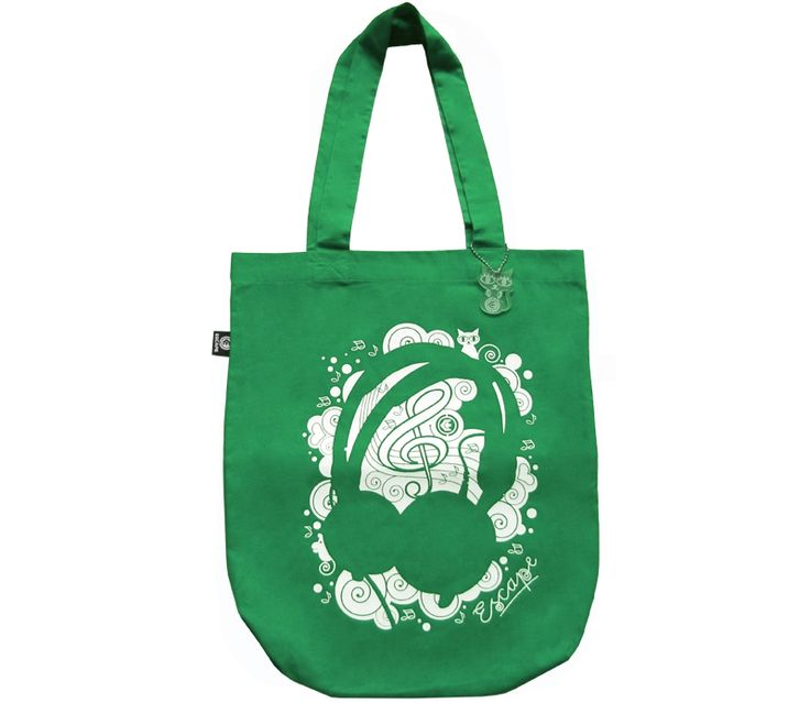 Canvas-bag Phones green from Escape Wear