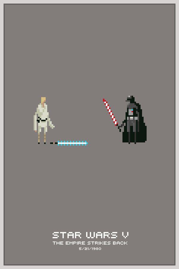 Star Wars Pixel PostersDarth Vader, Michael Myers, Pixelart, Pixel Posters, Stars Wars, Film Posters, 8Bit, Pixel Art, 8 Bit