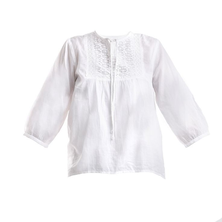 TUNIC IN WHITE COLOR - Blouses-Shirts - Clothes