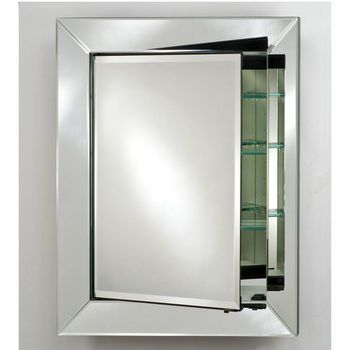 Afina Radiance Venetian Contemporary Medicine Cabinet Mirrored Interiors. CLIENT TO PURCHASE AND PROVIDE. CONTRACTOR TO INSTALL AND PROVIDE INSTALLATION MATERIALS. SEE PLANS FOR SIZING AND LOCATION.