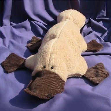 """Platypus Stuffed Toy Sewing Pattern PDF INSTANT DOWNLOAD Plattie the Platypus (12""""/30cm) Soft Toy Pattern:  Plattie is the first """"Aussie"""
