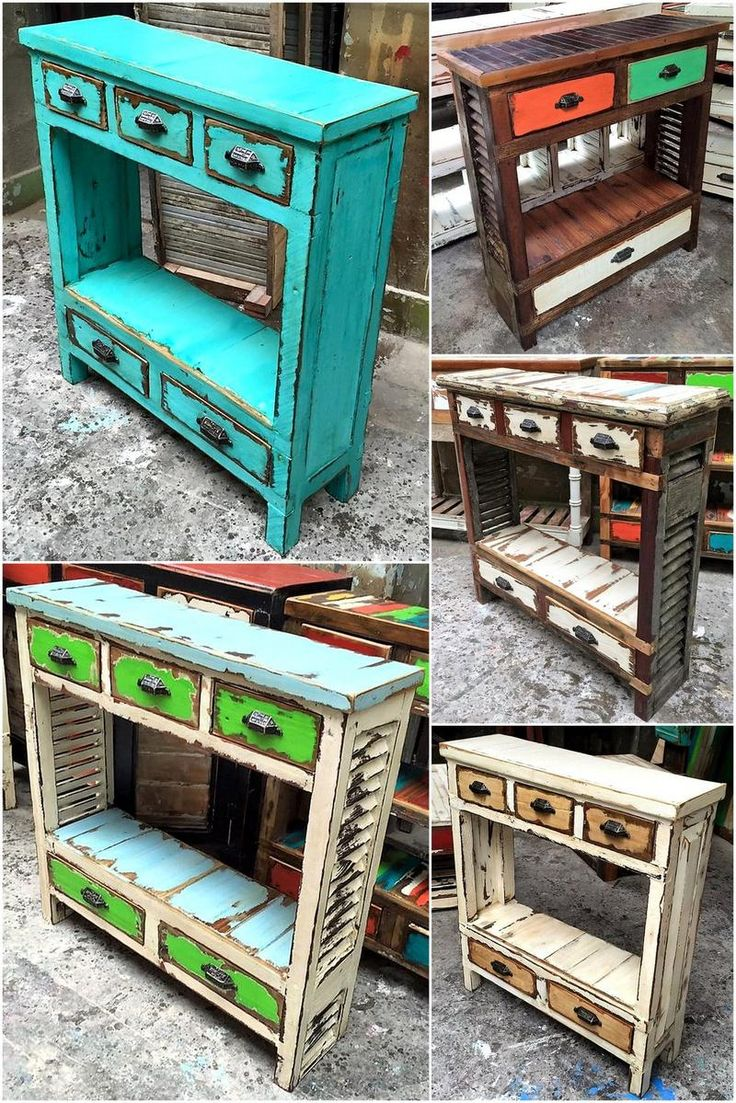 pallets wooden side table ideas