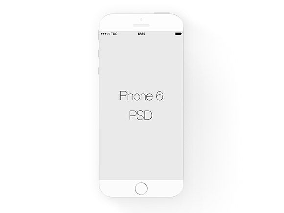 Here is a white flat iPhone mockup created with Photoshop vector shapes. Free PSD released by Aaron Kettl.