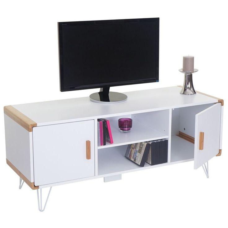 Modern TV Schrank Weiß Zimmer Lowboard Media Rack Tisch Kommode Kabinett Möbel