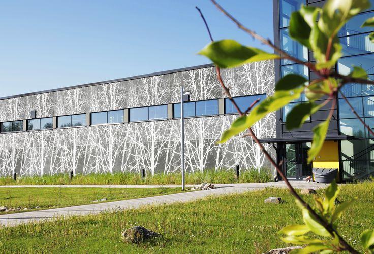 Kaleva Printing House, Oulu, Finland 2012. Architect: Uki arkkitehdit Oy, prefabrication: Rajaville.