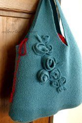 Sweater Into Felted Handmade Bag Tutorial | AllFreeSewing.com