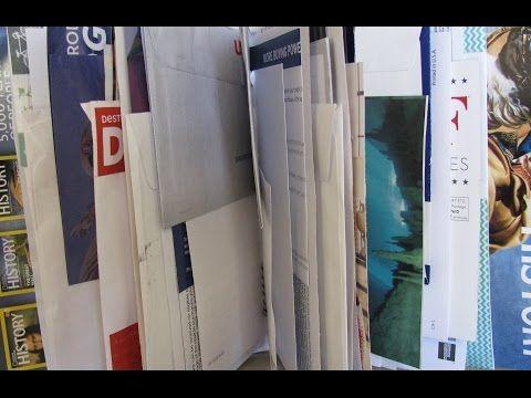 Binding a Junk Mail Journal - YouTube