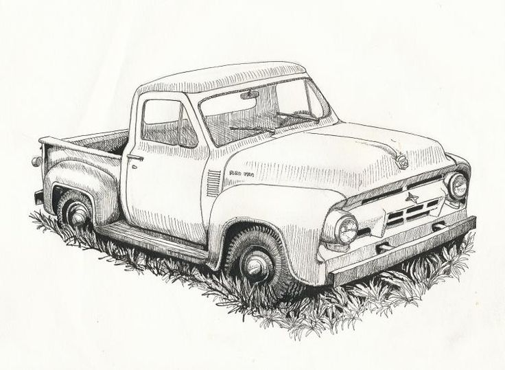 Old Ford Truck Drawing Trucks Pinterest Chevy