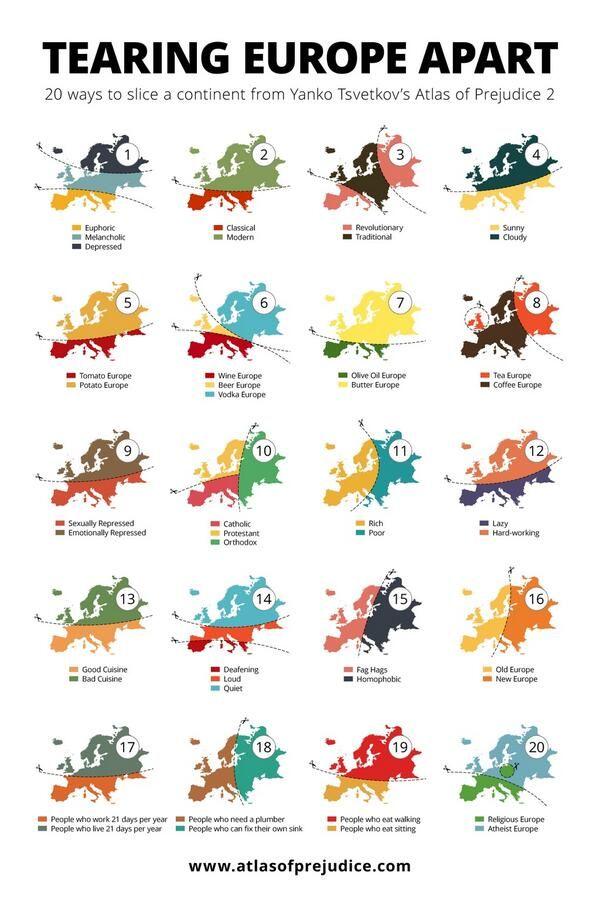 20 Ways to slice a continent - Atlas of Prejudice