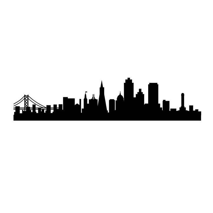 San Francisco SF City Skyline Silhouette - Vinyl Wall Art Decal for Homes, Offices, Kids Rooms, Nurseries, Schools, High Schools, Colleges, ...