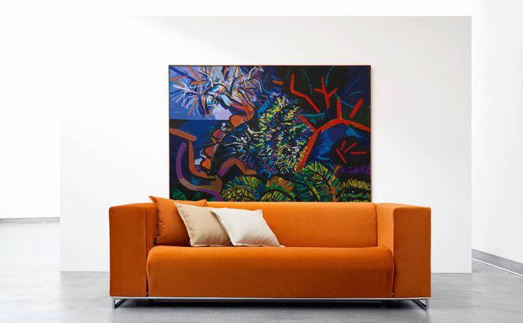 """Design: Giulio Manzoni for Orizzonti Italia Samoa, prodotto dalla sister company """"Orizzonti Italia"""", è la soluzione ideale per chi necessita di un divano letto multiuso: comodo e trasformabile, si adatta ad ogni ambiente, offrendo un luogo di relax che all'occorrenza diventa un pratico giaciglio su cui riposare. Download"""