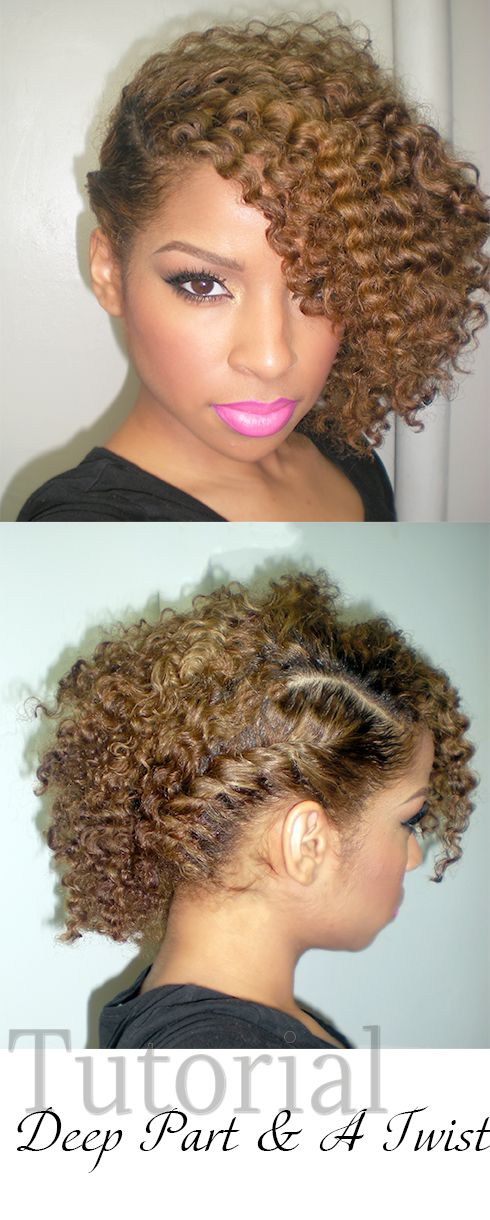 "This style is IT! Oh my goodness. Pinner writes: ""Beauty By Lee: Hair Tutorial: Deep Part and a Twist out"""