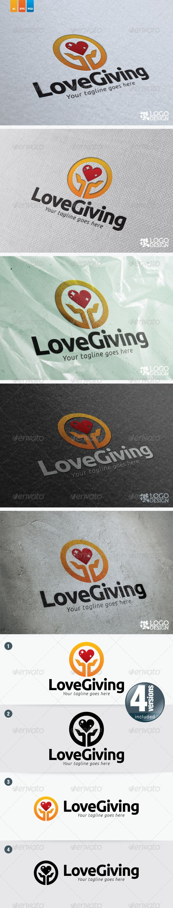 Love Giving  #GraphicRiver         This logo suit for any charity organization