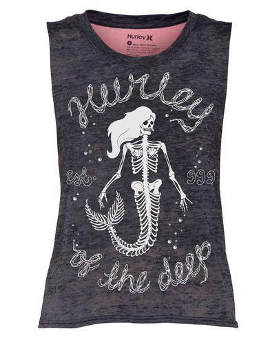 Hurley Of The Deep Womens Biker Tank Top - Seacrl - Size M | Hurley